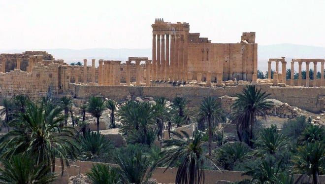 This file photo released on May 17, 2015, by the Syrian official news agency SANA, shows the general view of the ancient Roman city of Palmyra, northeast of Damascus, Syria.
