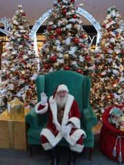 Santa's waiting at Rockaway Townsquare.