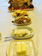 A Persian breakfast is laid out for a guest by Mahtob Mahmoody at her Michigan home.