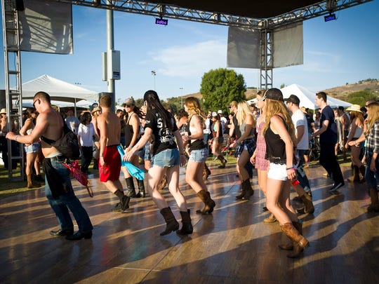 As one of the bands plays at a past OakHeart event, dancers get into the rhythm.