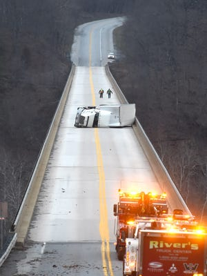 The Airville Fire Department was alerted to an overturned tractor trailer on Norman Wood Bridge. Crews shut down the bridge in both directions.