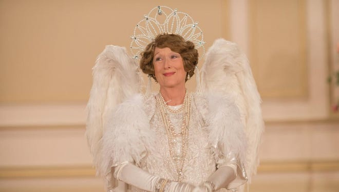 "In ""Florence Foster Jenkins,"" Meryl Streep stars as a socialite who can't sing but insists on singing."