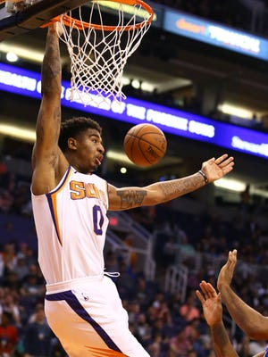 Marquese Chriss is one of many players listed as 'questionable' to play in the Suns' last game of the season.