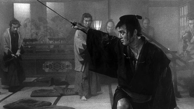 """A scene from Kihachi Okamoto's """"The Sword of Doom,"""" now available on Blu-ray and DVD from the Criterion Collection."""