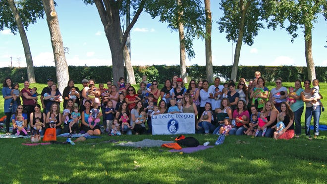 About 120 residents from around the Four Corners participated in La Leche League of Farmington's third annual Live, Love, Latch event on Aug. 6 at Civitan Park in Farmington. The event celebrates World Breastfeeding Week and offers support to breastfeeding families in the community. The Farmington event recorded 37 latches during the Global Big Latch On, which encourages women to gather together to breastfeed at a certain time.