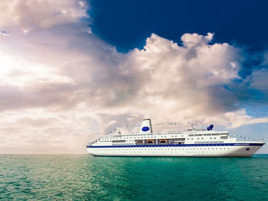 The World Odyssey will make ports of call at between eight and 15 destinations during the semester.