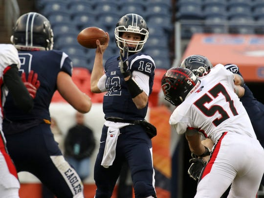 Dylan McCaffrey is a four-star dual-threat quarterback from Highlands Ranch (Colo.) Valor Christian.