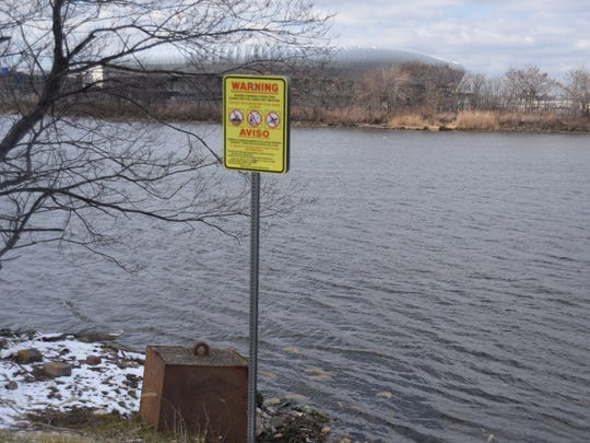 A polluted section of the lower Passaic River. Much