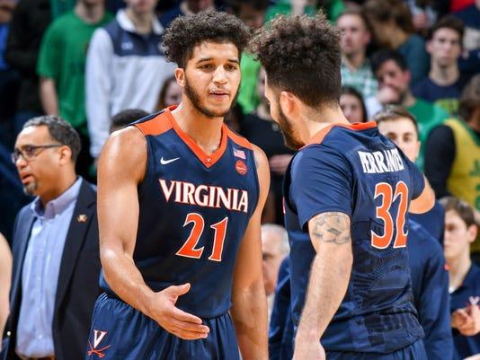 USP NCAA BASKETBALL: VIRGINIA AT NOTRE DAME S BKC USA IN