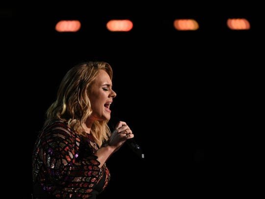 British singer Adele performs onstage during the 59th