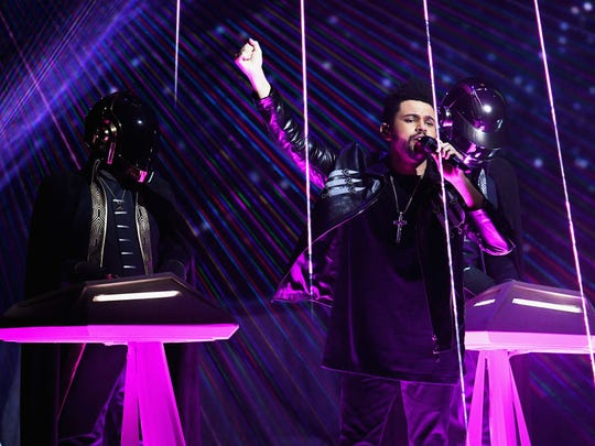 Recording artist The Weeknd and music group Daft Punk
