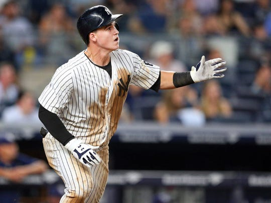 Tyler Austin was called up from Class AAA Scranton/Wilkes-Barre
