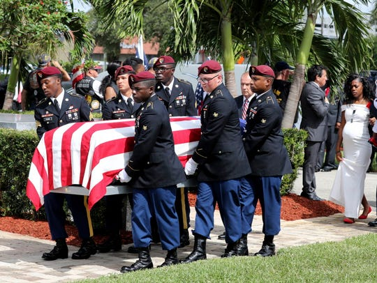 Funeral of Sgt. La David Johnson on Oct. 21, 2017,
