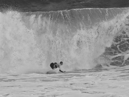 Waves at Sebastian Inlet's King of the Peak surf contest