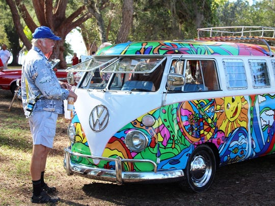 This VW van was part of the 2017 Cape Coral Charity Car Show.