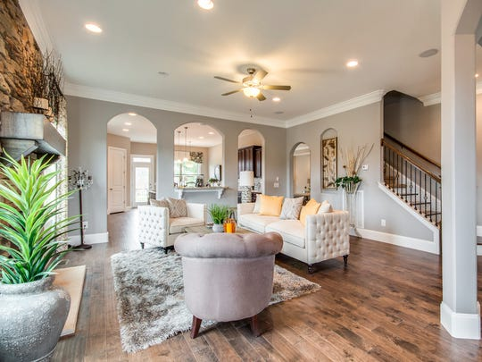 Homes built by Dalamar Homes in Hendersonville's Stoneybrook subdivision have open floor plans and 10-foot ceilings.