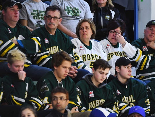 Mourners attended a vigil at the Elgar Petersen Arena.
