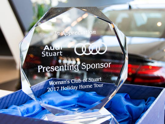 """Audi Stuart has received four """"In Appreciation"""" crystal"""