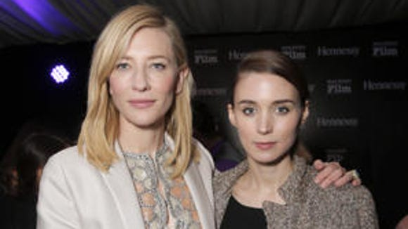 Cate Blanchett and Rooney Mara together earlier this year.