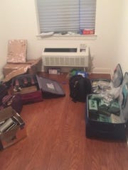 The apartment in Kew Gardens, Queens, where authorities seized hundreds of pounds in narcotics Aug. 1.