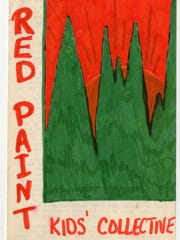 Cover of a hand-made pamphlet for the Red Paint Kids' Collective, a project of Free Vermont to educate and care for children from various communes.