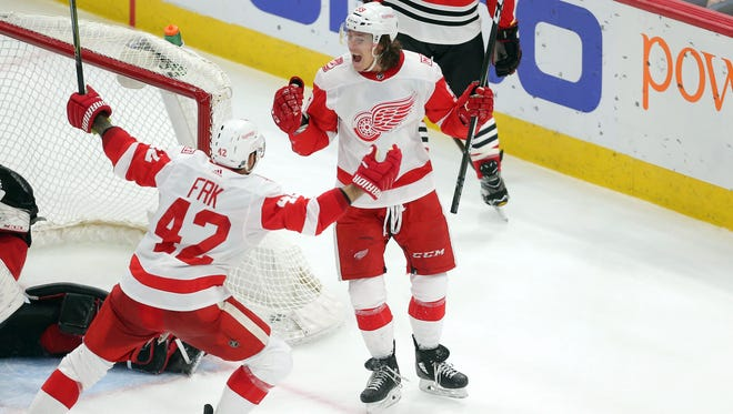 Tyler Bertuzzi and  Martin Frk are chief beneficiaries of Tomas Tatar's departure from the Detroit Red Wings.