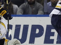 Mike Fisher ended Nashville's franchise-record scoring drought in the first period and the Predators beat the Buffalo Sabres 3-2 on Wednesday night to snap a three-game losing streak.