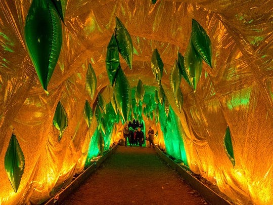 "An illuminated tunnel is shown from last year's ""Lightscapes"" at Van Cortlandt Manor."