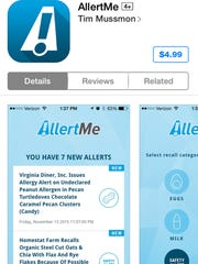 AllertMe can be purchased for $4.99 in Apple's App Store or in Google Play for Android.