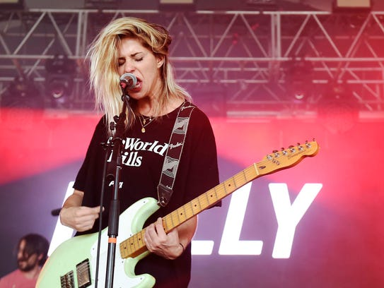 Alicia Bognanno of the band Bully performs during the