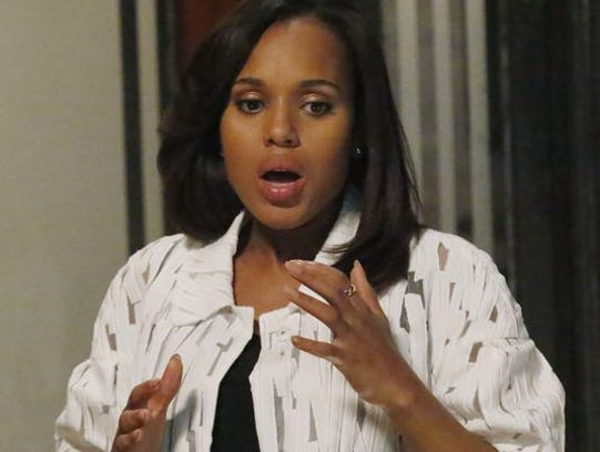 "Kerry Washington in ABC's ""Scandal."""