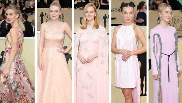Pink was the color of the SAG Awards Sunday.