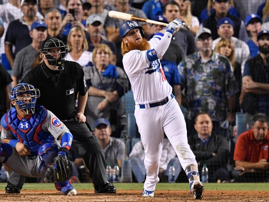 USP MLB: NLCS-CHICAGO CUBS AT LOS ANGELES DODGERS S BBN LAD CHC USA CA