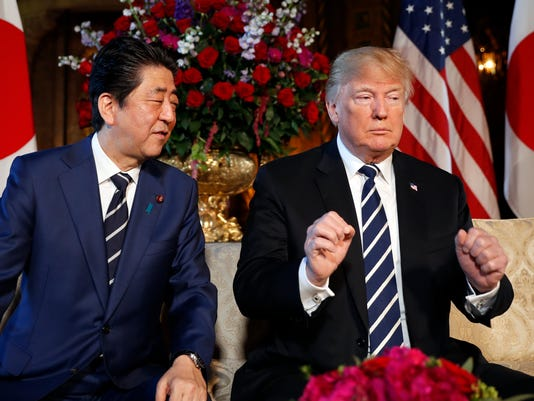 AP APTOPIX TRUMP US JAPAN A USA FL