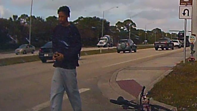 The Martin County Sheriff's Office released this image of a man sought in connection with a hit-and-run accident Tuesday, Dec. 20, 2016, in Stuart.