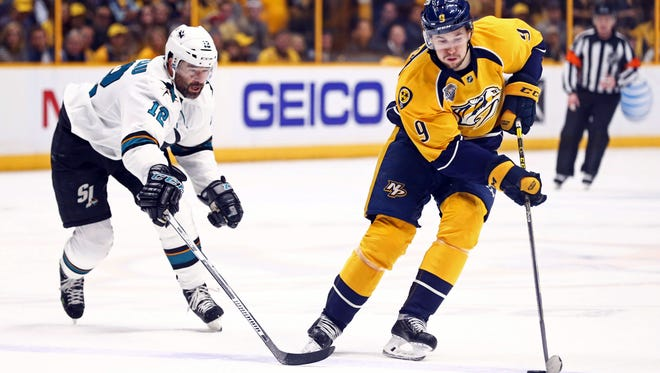 Forward Filip Forsberg has led the Predators in scoring in each of the past two seasons.