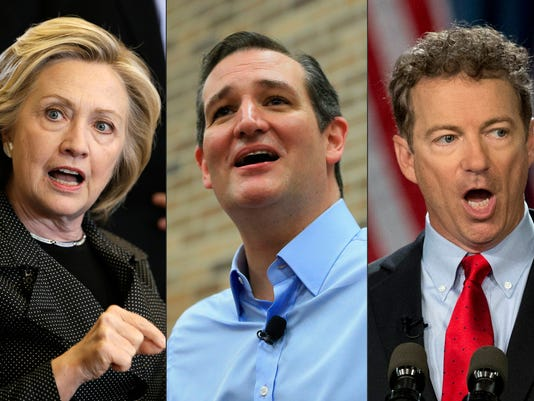 Hillary Rodham Clinton; Ted Cruz; Rand Paul