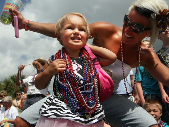 The Shrimp Festival Parade on Fort Myers Beach is one of the biggest parts of the annual Shrimp Festival.