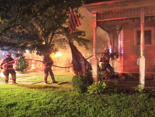 Endicott firefighters respond to the Aug. 10 fire at