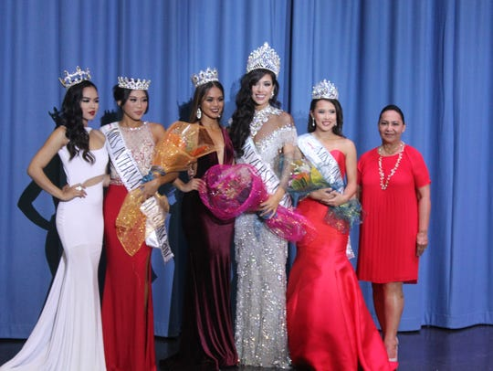 From left: 2016 Miss International Guam, Annalyn Buan;