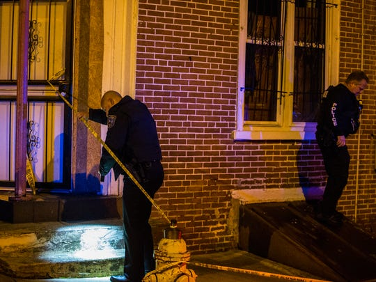 Wilmington Police investigate a shooting in the 1200 block of West 3rd Street Sunday night.