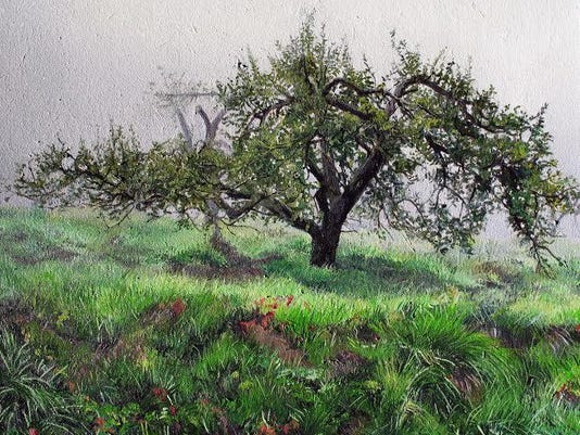 1007 MARTHA HEWETT Muente_exhibit_Appalachian_Apple_Orchard_1_15_x_20
