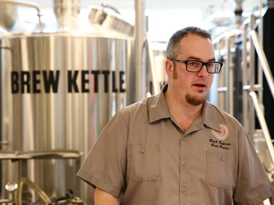 Hutch Kugeman, head brewer at The Brewery at the CIA in Hyde Park on Friday, Feb. 16, 2018.
