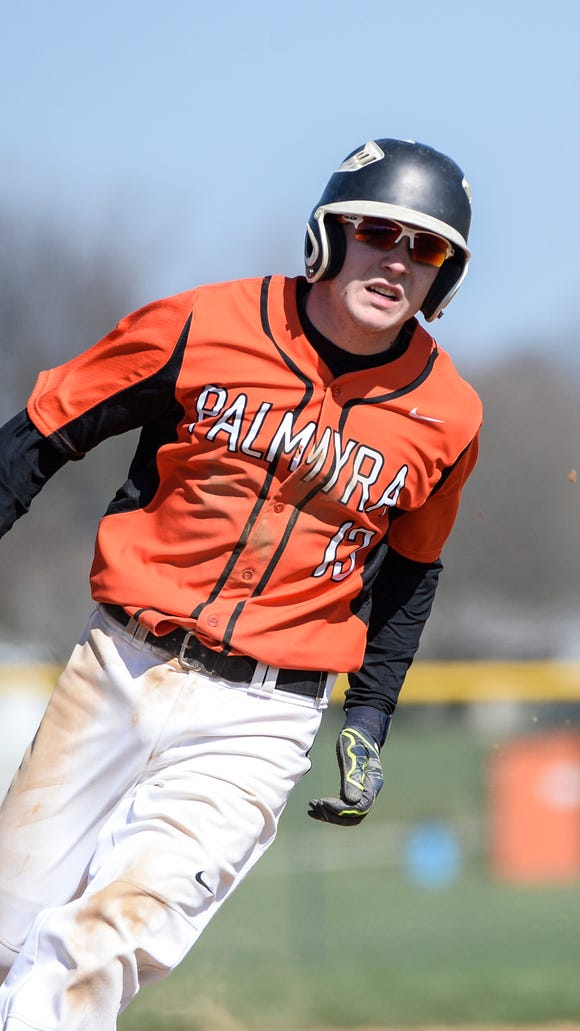 Palmyra's Dylan Spagnolo helped fuel the Couagrs' seven-game win streak that closed their season. Palmyra hosts West York in its district tournament opener on Monday.