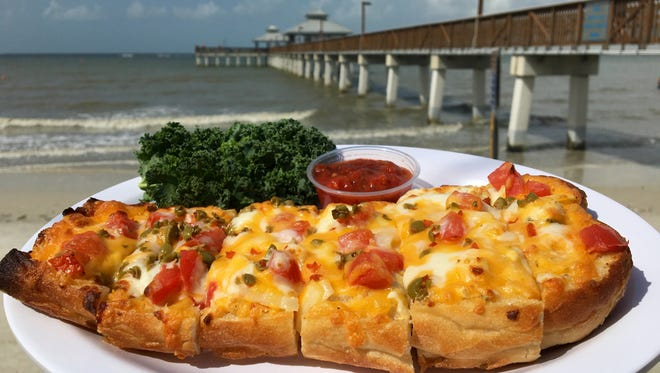 The Original World Famous Beach Bread is a Hot Dish from PierSide Grill on Fort Myers Beach.