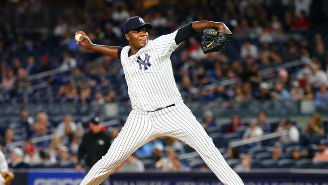 Yankees pitcher Michael Pineda allowed two runs on six hits over seven innings against St. Louis on Sunday night.