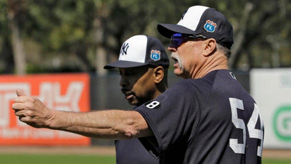 New York Yankees special instructor Rich Gossage (54)