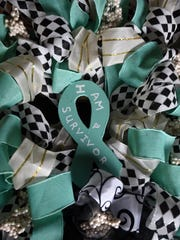 Jessica Kennedy's mother, Brenda Peine, made this wreath for Kennedy after she was diagnosed with cervical cancer.