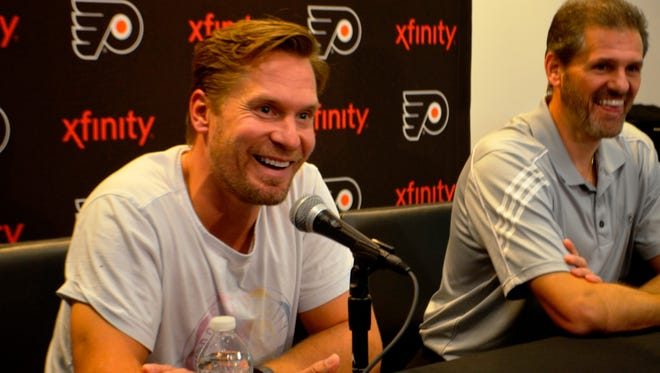 Kimmo Timonen was given medical clearance to skate Thursday.