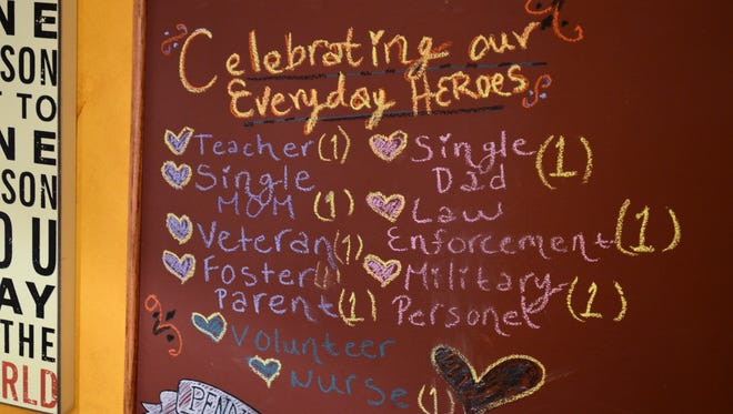 The Raven Cafe is hoping to fill up their hero board with more free drinks to offer this holiday season.